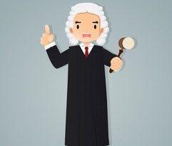 giudice fumetto dito e martelletto 2